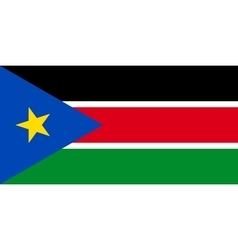 Flag of South Sudan in correct size colors vector