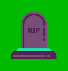 Flat icon on background halloween grave vector