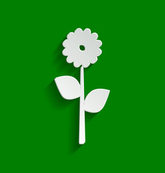 flower sign paper whitish vector image