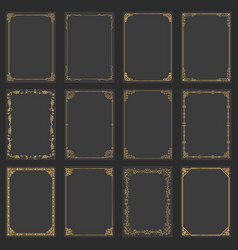 frames decorative rectangle and borders set vector image