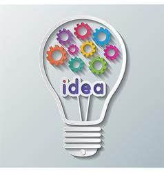 Gear bulb vector