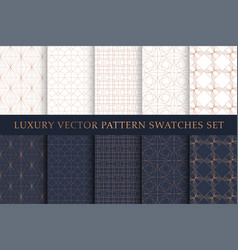 golden copper luxury swatches pattern pack vector image
