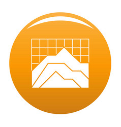 graph icon orange vector image