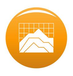 graph icon orange vector image