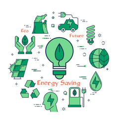 green eco energy saving bulb vector image