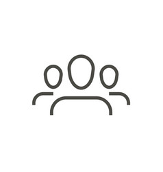 Group people icon line persons symbol vector