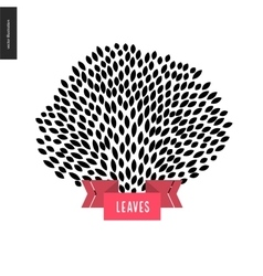 Hand drawn foliage vector image