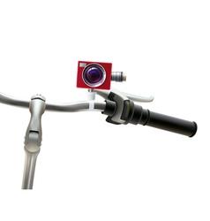 Handlebar Camera Realistic vector