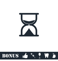 Hourglass icon flat vector image