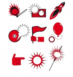 icons and buttons vector image