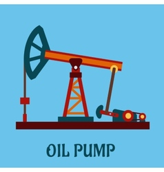 Isolated flat oil pump icon vector image
