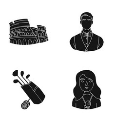 Journalist profession tourism and other web icon vector