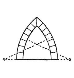 Lancet arch equal vintage engraving vector