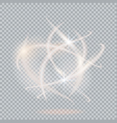 light effect on transparent vector image