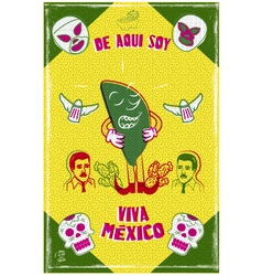 Mexican design poster vector