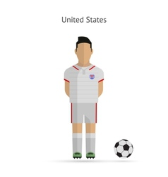 National football player United States soccer team vector image