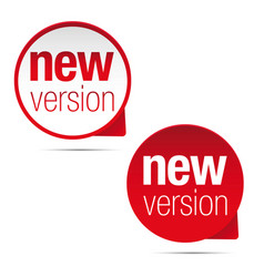 new version label tag red vector image
