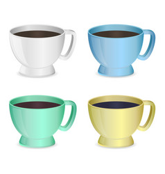 photorealistic cups set vector image