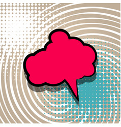 Pop art cartoon comic text balloon vector