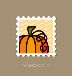 pumpkin stamp harvest thanksgiving vector image