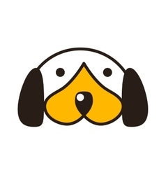 Puppy head vector image