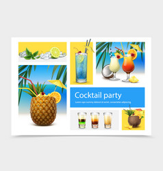 realistic cocktail party concept vector image