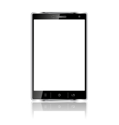 Realistic mobile phone with blank screen vector image