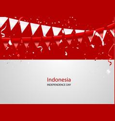 red white confetti concept design 17 august happy vector image