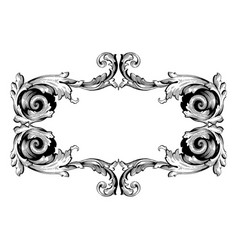 retro baroque decorations element vector image