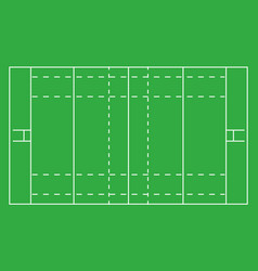 rugby field top view vector image