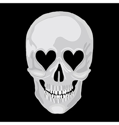 Scull heart vector