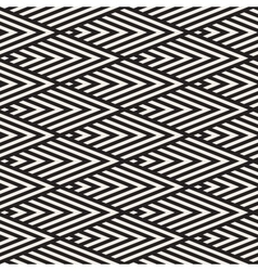 Seamless Black and White Rhombus Stripes vector