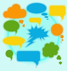 Set of bright speech bubbles on a light background vector image