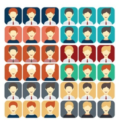 Set of flat design icons businessman vector