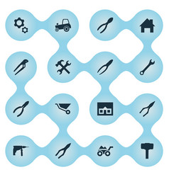 Set of simple axe icons vector
