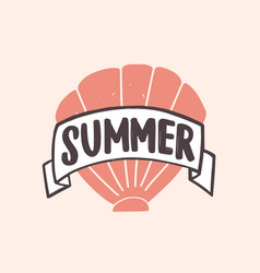 summer word written with modern funky font vector image