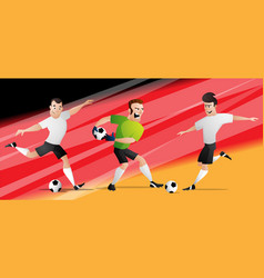 team germany football soccer players vector image