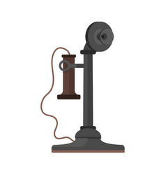 telephone vintage icon vector image