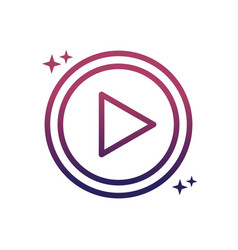 video player button social media gradient style vector image