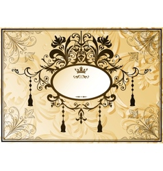 Vintage background with ornate frame vector image