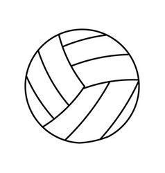 Volleyball ball sport equipment outline vector