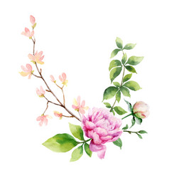 watercolor hand painting of vector image