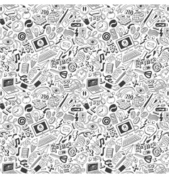 Web doodles seamless background vector