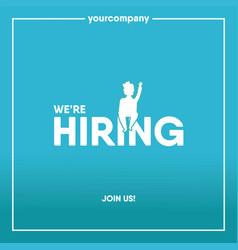 were hiring banner creative vector image