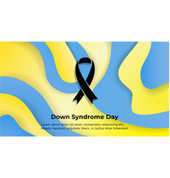 world down syndrome day banner liquid waves vector image