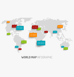 world map with pointer marks vector image