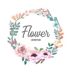 Wreath icon for creative artwork pastel line vector