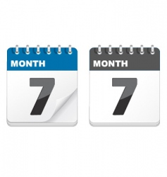 calender icons vector image