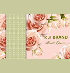 delicate roses floral background abstract vector image vector image