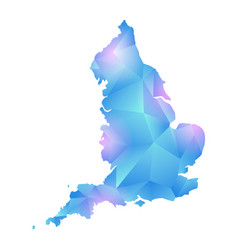 map of england polygon vector image